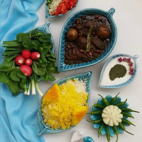 Ghormeh Sabzi, Sabzi Khordan, and Yougurt