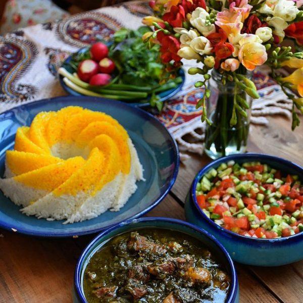 Ghormeh Sabzi (Persian Herb Stew), Kateh