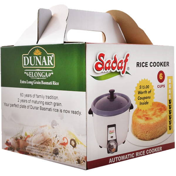 Sadaf Automatic Rice Cooker 1.2 L - 6 Cups