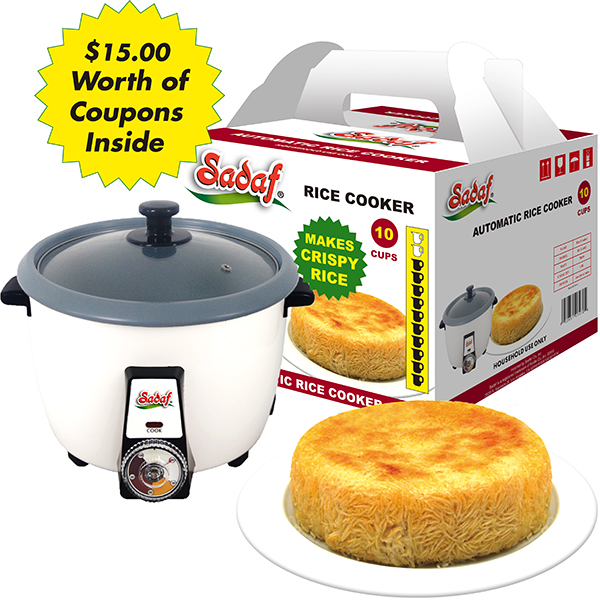 Sadaf Automatic Rice Cooker 1.8 L - 10 Cups