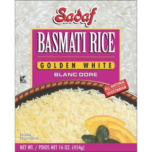 Sadaf Basmati Rice Golden White 16 oz.