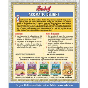Sadaf Basmati Rice Mix Aromatic Delight 6 oz.