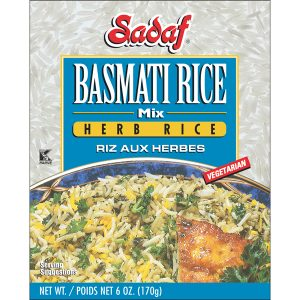 Sadaf Basmati Rice Mix Herb Rice - Sabzi Polo 6 oz.