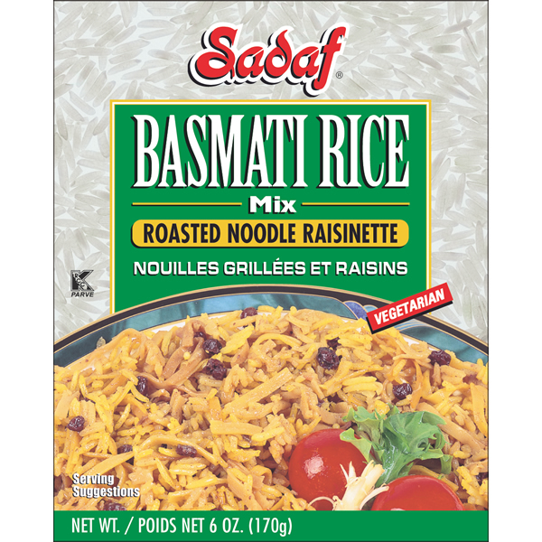 Sadaf Basmati Rice Mix Roasted Noodle Raisinette 6 oz.