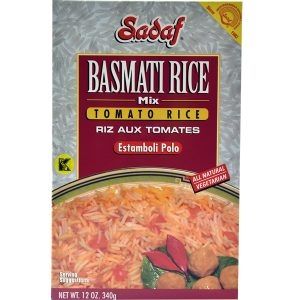 Sadaf Basmati Rice Mix Tomato Rice - Estamboli Polo 12 oz.