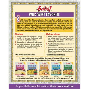 Sadaf Basmati Rice Mix Wild West Favorite 6 oz.