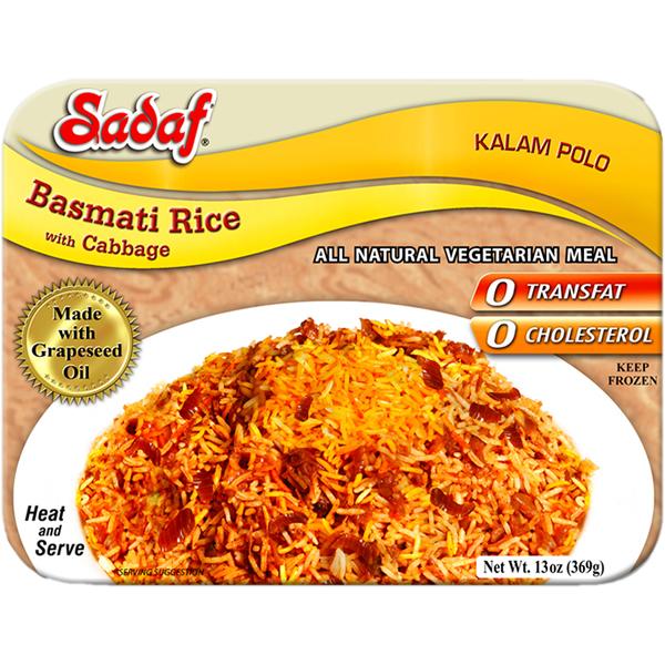 Sadaf Basmati Rice with Cabbage - Kalam Polo 15 oz.