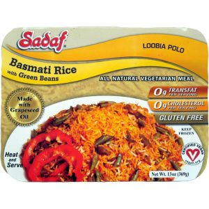 Sadaf Basmati Rice with Green Beans - Loobia Polo 15 oz.