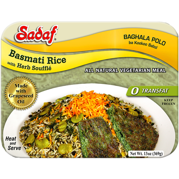 Sadaf Basmati Rice with Herb Souffle - Baghala Polo & Kookoo 15 oz.