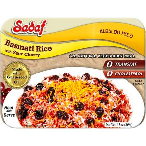 Sadaf Basmati Rice with Sour Cherry - Albaloo Polo 15 oz.