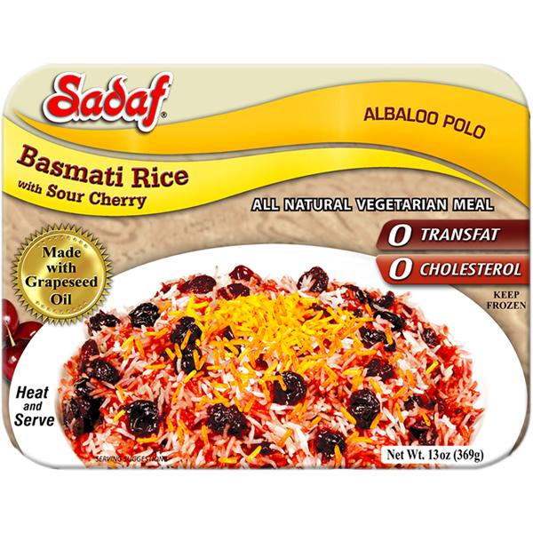 Sadaf Basmati Rice with Sour Cherry - Albaloo Polo 15 oz.