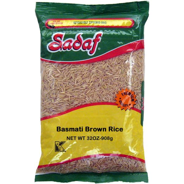 Sadaf Brown Basmati Rice aged Premium 2 lb