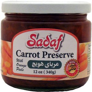 Sadaf Carrot Preserve with Orange Peels 12 oz.