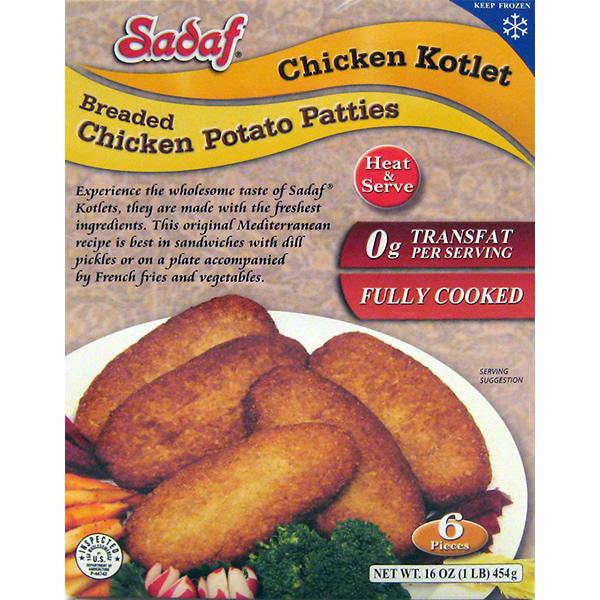 Sadaf Chicken Kotlet Frozen 16 oz.