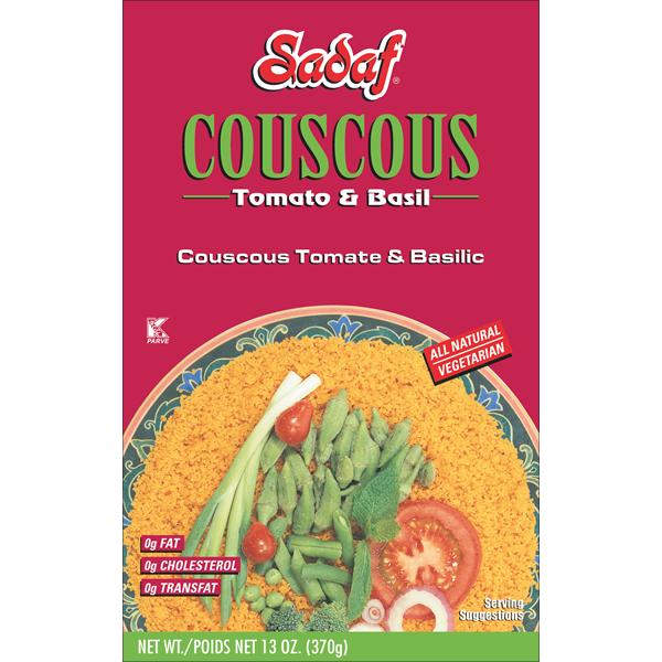 Sadaf Couscous Tomato & Basil 13 oz.