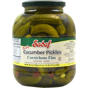 Sadaf Cucumber Pickles Cornichons Fins 46.60 oz.