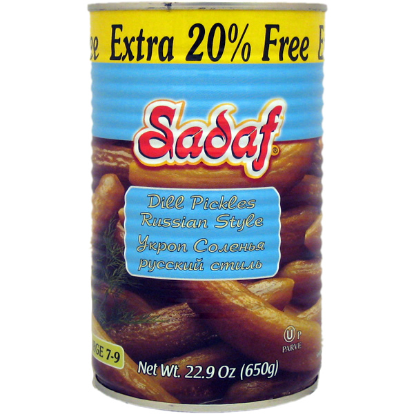 Sadaf Dill Pickles Russian Style 22.9 oz.
