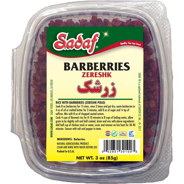 Sadaf Dried Barberries - Zereshk 3 oz.
