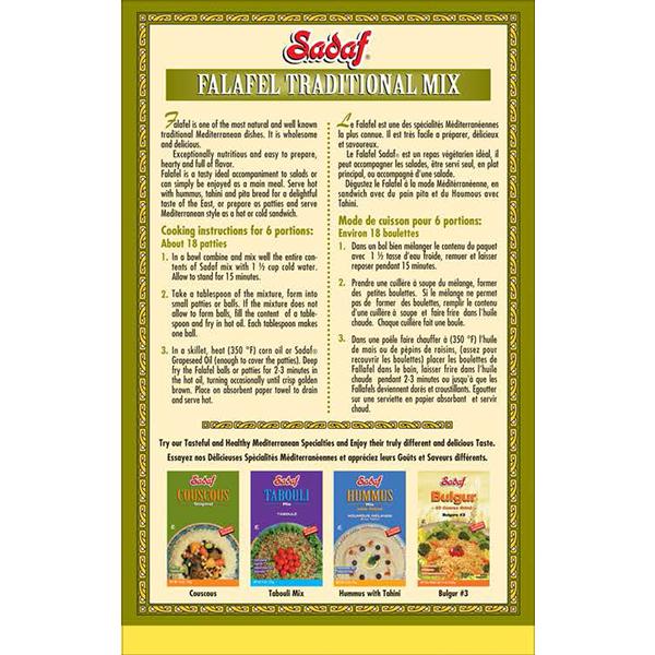 Sadaf Falafel Traditional Mix 12 oz.
