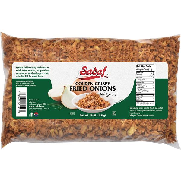 Sadaf Fried Onions Golden Crispy 16 oz.