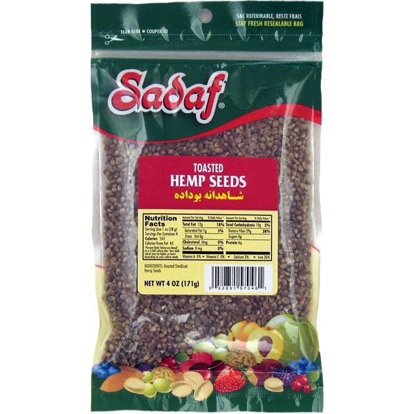 Sadaf Hemp Seeds Toasted 4 oz.