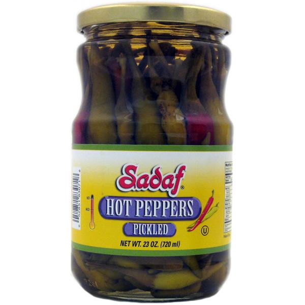 Sadaf Hot Peppers Pickled 23 oz.