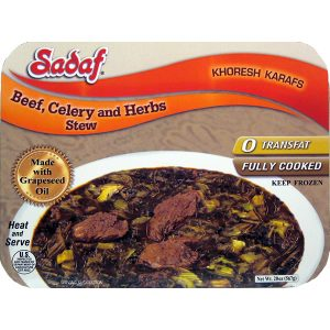 Sadaf Khoresh Karafs Stew with beef 20 oz.