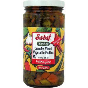 Sadaf Kosher Crunchy Mixed Vegetable Pickles 12 oz.
