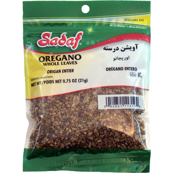 Sadaf Oregano Leaves Whole 0.75 oz.