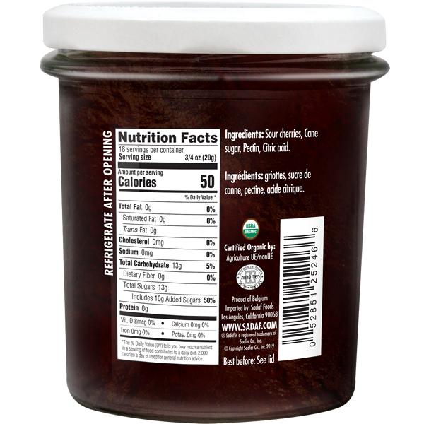 Sadaf Organic Sour Cherry Jam 13 oz.