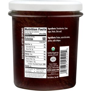 Sadaf Organic Strawberry Jam 13 oz.