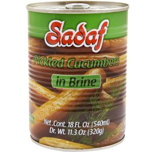 Sadaf Pickled Cucumber in Brine 19 oz.