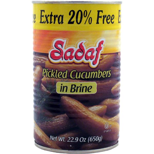 Sadaf Pickled Cucumbers in Brine Extra 20% 22.8 oz.
