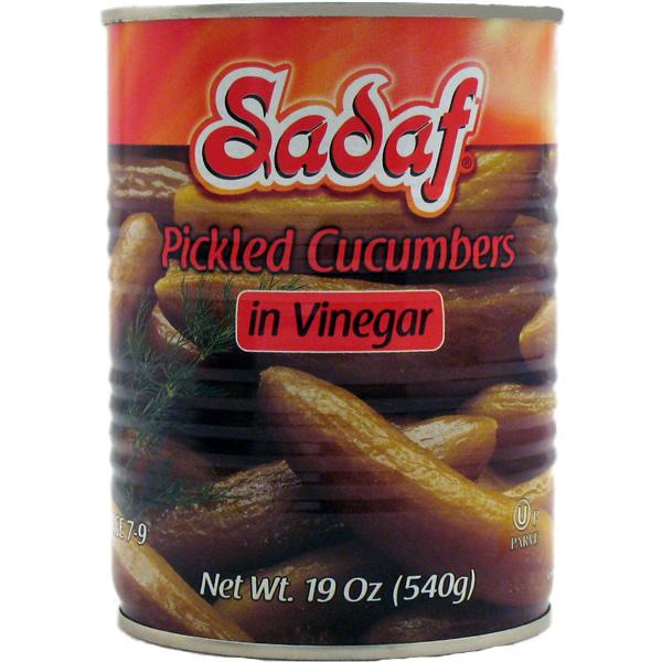 Sadaf Pickled Cucumbers in Vinegar 19 oz.