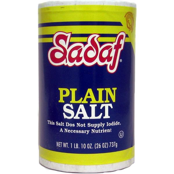 Sadaf Plain Salt 26 oz.