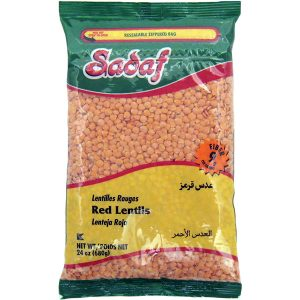 Sadaf Red Lentils Domestic 24 oz.