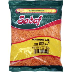 Sadaf Red Lentils Split - Masoor Dal 16 oz.