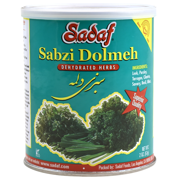Sadaf Sabzi Dolmeh - Dried Herbs Mix SDF 2 oz.