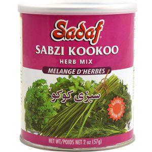 Sadaf Sabzi Kookoo - Dried Herbs Mix SDF 2 oz.