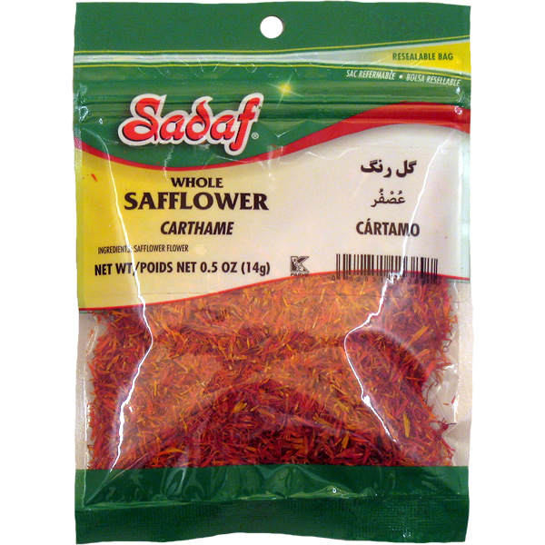 Sadaf Safflower Whole 0.5 oz.