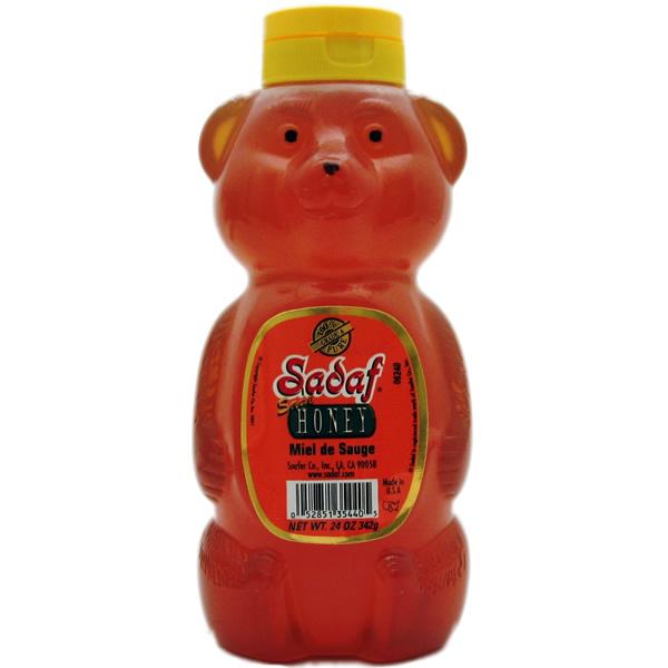 Sadaf Sage Honey, Bear 24 oz.