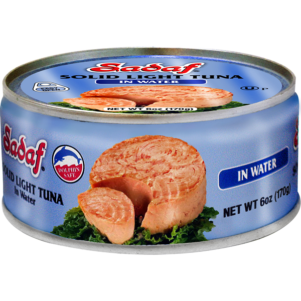 Sadaf Solid Light Tuna in Water - Easy Open 6 oz.