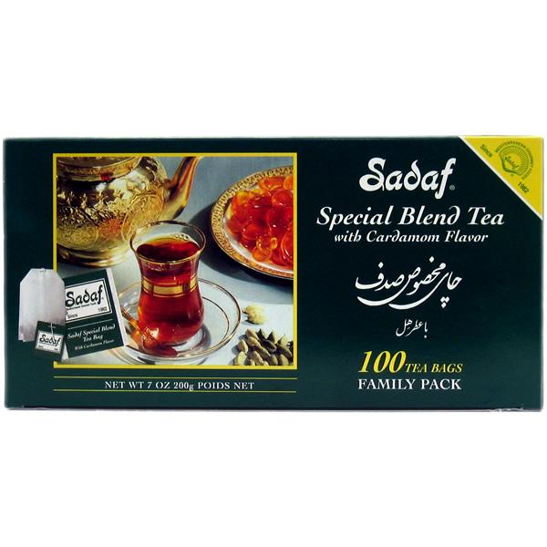 Sadaf Special Blend Tea with Cardamom 100 Sachets Tea Bags 7 oz.