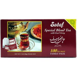 Sadaf Special Blend Tea with Earl Grey 100 Sachets Tea Bags 7 oz.