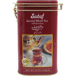 Sadaf Special Blend Tea with Earl Grey 16 oz Tin