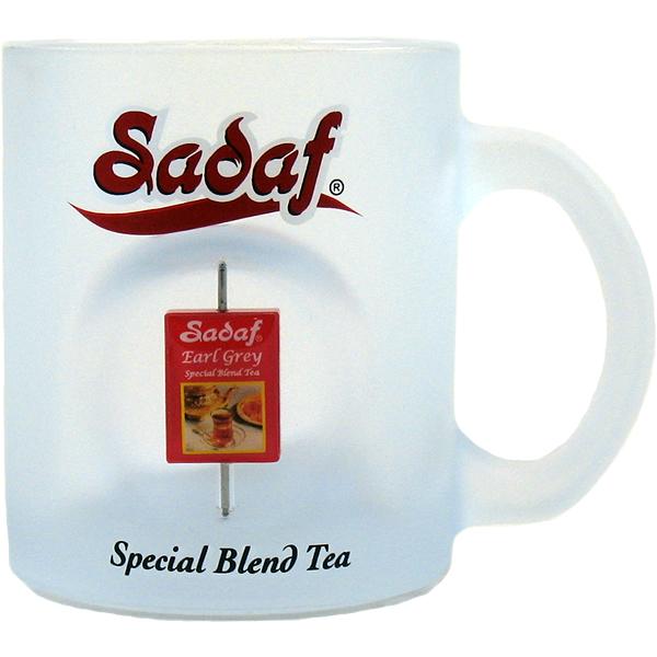 Sadaf Spinner Mug (Special Blend Tea Design) - Frosted Glass
