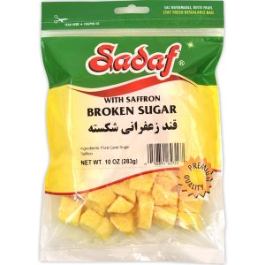 Sadaf Sugar Broken with Saffron 10 oz.
