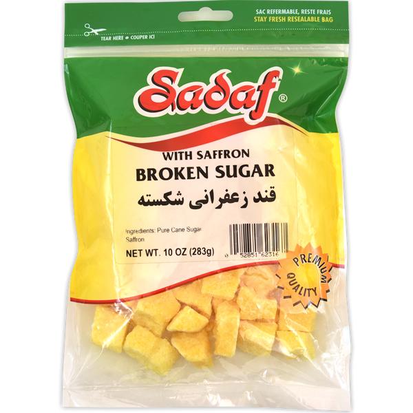 Sadaf Sugar Broken with Saffron 10 oz.