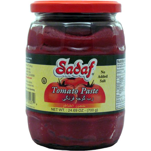 Sadaf Tomato Paste Jar - No Salt Added 24.7 oz.