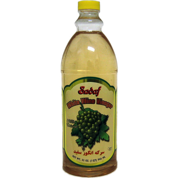 Sadaf White Wine Vinegar 100% Natural 32 oz.